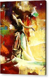 Flamenco Dancer 032 Acrylic Print by Catf