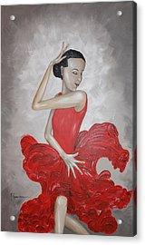 Flamenco Dancer I Acrylic Print by Mariya Kazarinova
