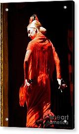 Flamenco Dancer With Golden Hair - Oil Acrylic Print