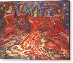 Flamenco Dancers Acrylic Print by Fereshteh Stoecklein