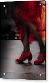 Flamenco Fire Acrylic Print by Tetyana Kokhanets