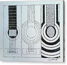 Flamenco Guitar Acrylic Print