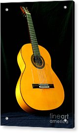 Flamenco Guitar Acrylic Print by Russell Christie