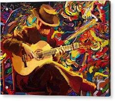 Flamenco Guitarist Acrylic Print by Corporate Art Task Force