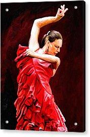 Flamenco Acrylic Print by James Shepherd