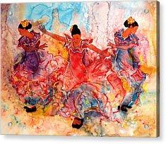 Flamenco Acrylic Print by John YATO