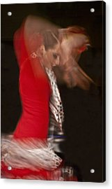 Flamenco Series 3 Acrylic Print