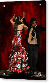 Flamenco Series #9 Acrylic Print by Mary Machare