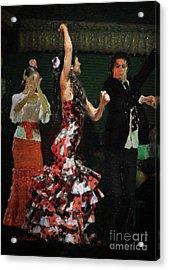 Flamenco Series No 13 Acrylic Print