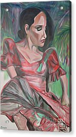 Flamenco Solo Acrylic Print by Ecinja Art Works