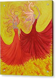 Acrylic Print featuring the painting Flamenco by Stephanie Grant