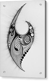Flames And Orbs Acrylic Print by Kelly Hazel