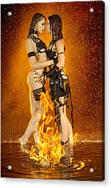 Flames Of Attraction Acrylic Print by Adam Chilson