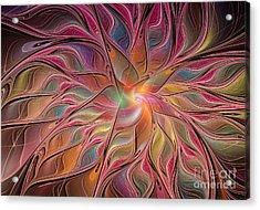 Flames Of Happiness Acrylic Print by Deborah Benoit