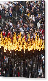 Flames Of Olympic Cauldron Designed By Acrylic Print
