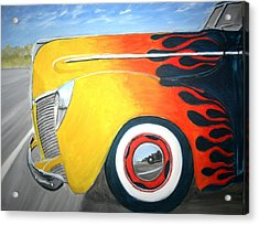 Acrylic Print featuring the painting Flames by Stacy C Bottoms