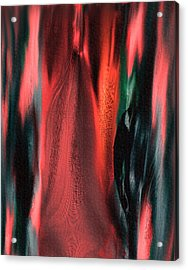 Acrylic Print featuring the painting Flames by Yul Olaivar