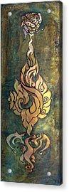 Flaming Dragon Rose Panel Acrylic Print