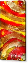 Flaming Feelings Acrylic Print by Julia Fine Art And Photography