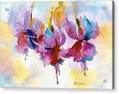 Flaming Fuchsias Acrylic Print by Pat Yager