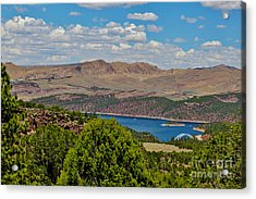 Acrylic Print featuring the photograph Flaming Gorge by Janice Rae Pariza