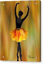 Flaming Grace Acrylic Print