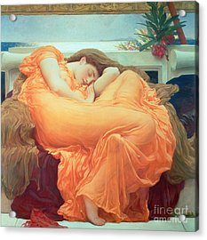 Flaming June Acrylic Print by Frederic Leighton