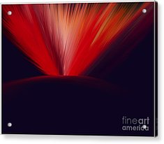 Flaming Planet Acrylic Print