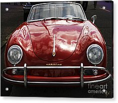 Flaming Red Porsche Acrylic Print