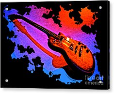 Flaming Rock Acrylic Print by Gem S Visionary