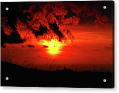 Flaming Sunset Acrylic Print
