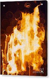 Flaming Waters Acrylic Print by Omaste Witkowski
