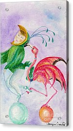 Flamingo Circus Acrylic Print