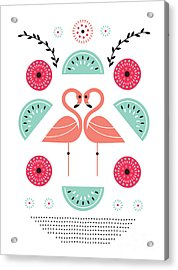 Flamingo Flutter Acrylic Print by Susan Claire