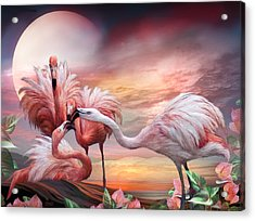 Flamingo Kiss Acrylic Print