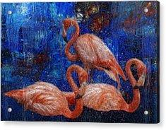 Flamingo Trio Acrylic Print