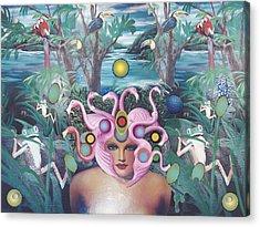 Flamingodeusa Acrylic Print by Douglas Fromm