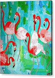 Flamingos 2 Acrylic Print