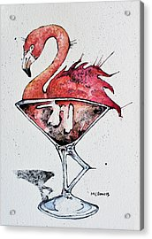 Flamingotini Acrylic Print by Mark M  Mellon