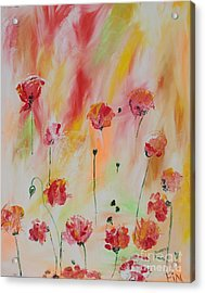 Acrylic Print featuring the painting Flanders Field by PainterArtist FIN