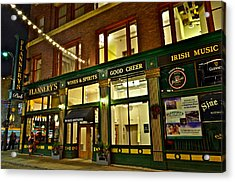Flannerys Pub Acrylic Print by Frozen in Time Fine Art Photography