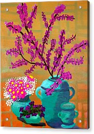 Acrylic Print featuring the painting Flare For Simplicity by Margaret Harmon