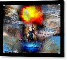 Acrylic Print featuring the digital art Flash by Kelly McManus