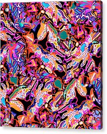 Flash Mob Acrylic Print