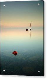 Flat Calm Shipwreck Sunrise Acrylic Print