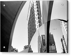 Acrylic Print featuring the photograph Flat Iron Building Empire State Mirror by Dave Beckerman