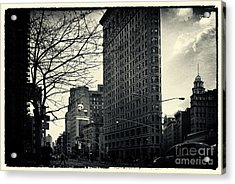 Flat Iron Building Fifth Avenue And Broadway Acrylic Print by Sabine Jacobs