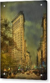 Flat Iron Building Acrylic Print by Kathy Jennings