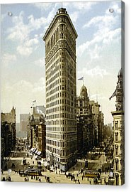Flat Iron Building New York 1903 Acrylic Print by Unknown