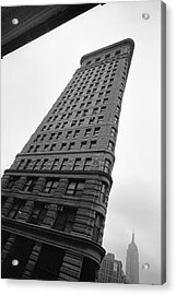 Acrylic Print featuring the photograph Flat Iron Building Nyc Tilt by Dave Beckerman
